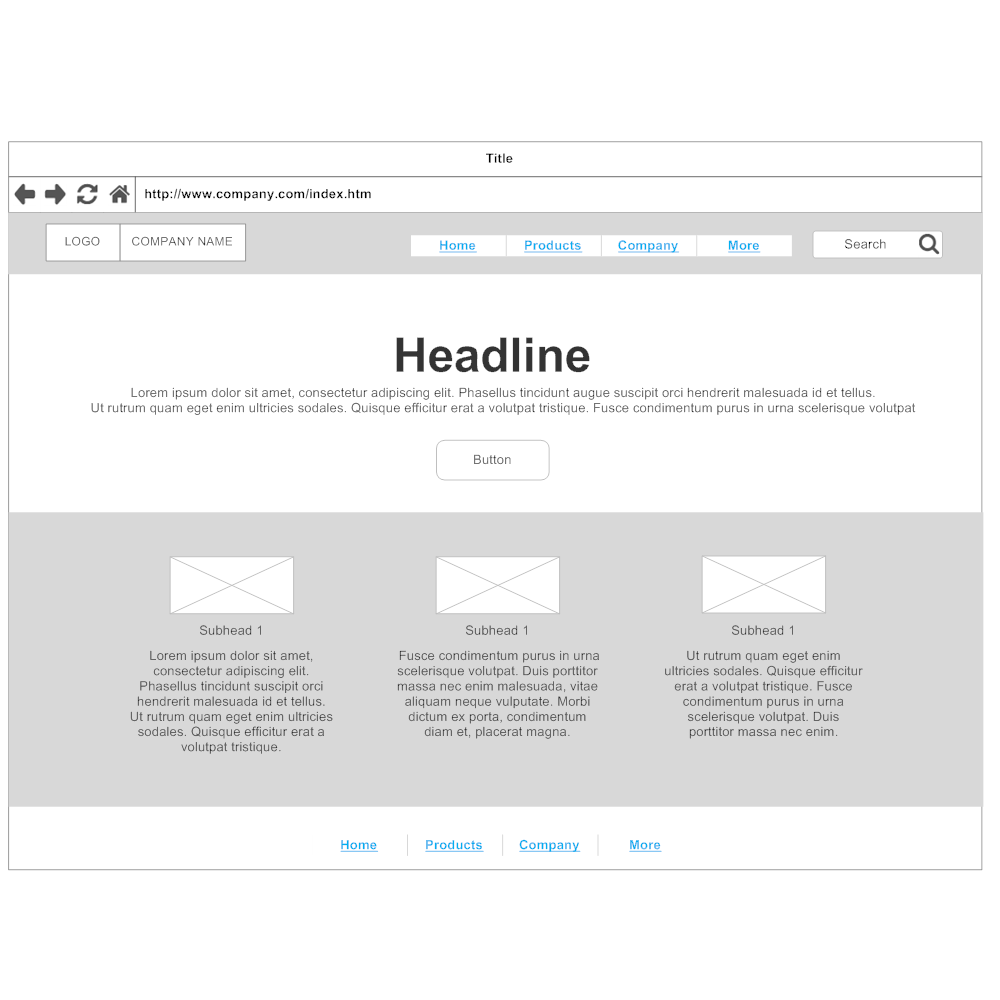 Example Image: Home page - 4