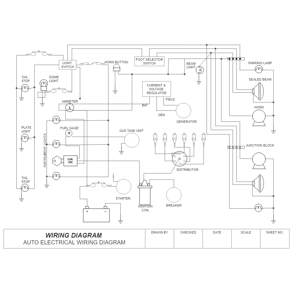 Automotive Wiring Diagram Practice : Wiring diagram auto