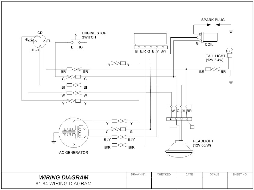 Wiring diagram ex&le  sc 1 st  SmartDraw : electrical wiring code - yogabreezes.com