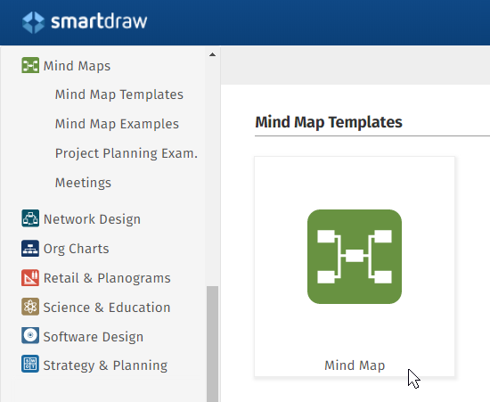 Mind map template