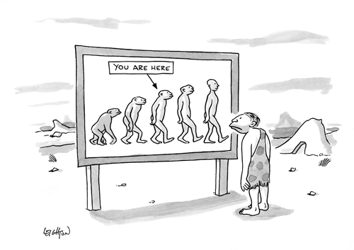 New Yorker cartoon - You are here chart