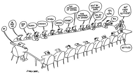 New Yorker Cartoon - Meeting consensus